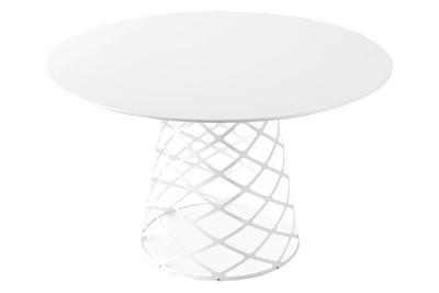Aoyama Dining Table Black Laminate/White - 130 x 73 cm