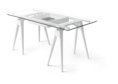 Arco Desk Frame & Drawer White