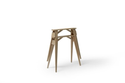 Arco Desk Tretles - Set of 2 Oak