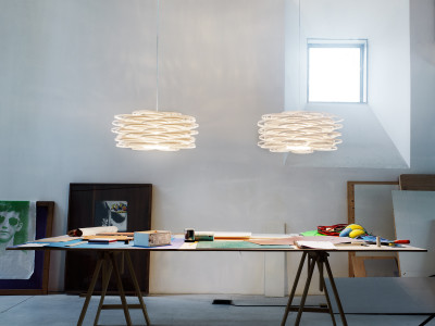 Aros Pendant Lamp White, No, Black Cable