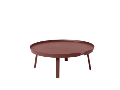 Around Extra Large Coffee Table Dark Red