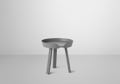 Around Small Coffee Table Dark Grey