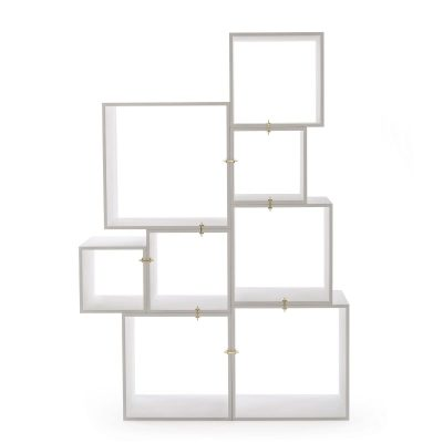 Assemblage Wooden Lacquered Modules White