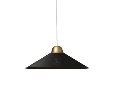 Aura Pendant Light Black, brass, Large
