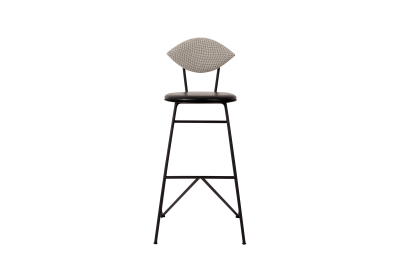 Avenue Bar Stool Floyd 163, Artificial Black leather
