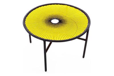 Banjooli Coffee Table Yellow and Black, Small