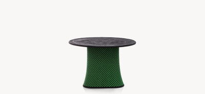 Baobab Outdoor Dining Table White and Grey / Cemento medio