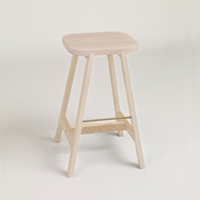 Bar Stool Three Beech, 65 cm Height