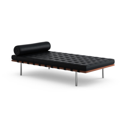 Barcelona Day Bed Volo Leather, Black, 44x65x196x98