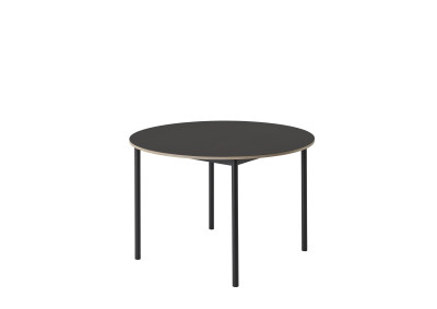 Base Round Table - 110cm diameter Black/Black Linoleum/Plywood