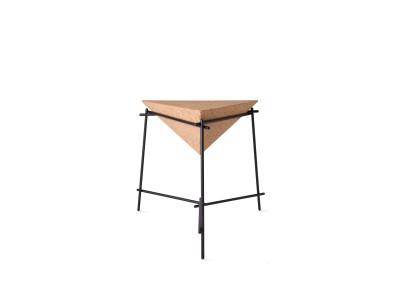 Basil Pyramide Side Table Black