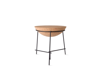 Basil Sphere Side Table Black
