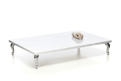 Bassotti Coffee Table Rectangular White, Low, 108 x 72 cm