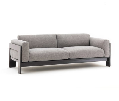 Bastiano Two-seat sofa Grey Lacquer, Hallingdal 116 Fabric