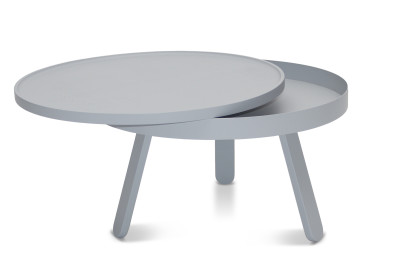 Batea M - Coffee table with storage Grey