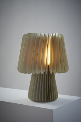 Beam Table Lamp - Pale Grey & China White