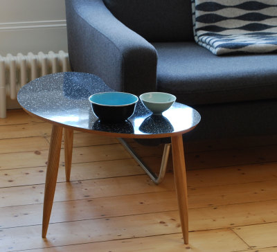 Bean Coffee Table Sparkled Black
