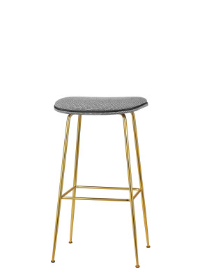 Beetle Bar Stool Matching Fabric, Leather Silk SIL0197 Cream, Frame Matt Black