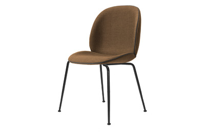 Beetle Dining Chair Umami 3 143, Brass Legs, Matching Material and Colour