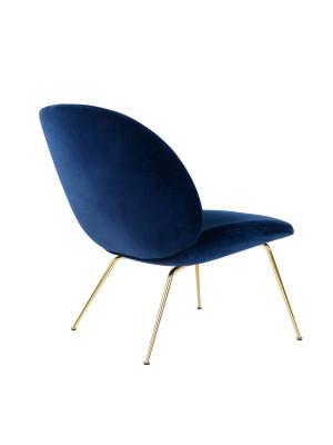 Beetle Lounge Chair - Conic Base Matching Fabric, Tonus 4 100, Frame Black-Chrome