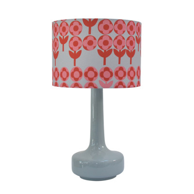 Bell Bottom Lamp with Verdure Shade Rose