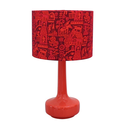 Bell Bottom Table Lamp with Higgledy Shade