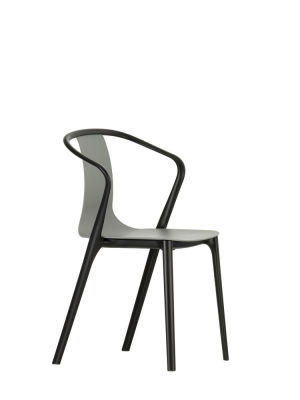 Belleville Armchair with Plastic Shell 94 Moss Grey