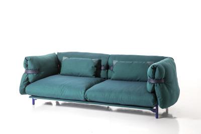Belt 2 Seater Sofa A3379 - Coda 2 100 white, 240, Anthracite grey, 2 cushions