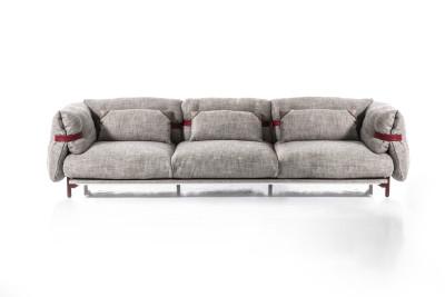 Belt 3 Seater Sofa A3379 - Coda 2 100 white, 300, Anthracite grey, 3 cushions