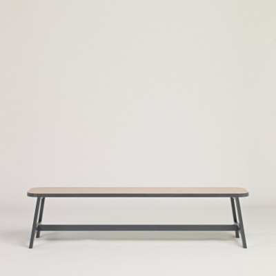 Bench Three Beech, Chamberlayne Grey, 180 cm