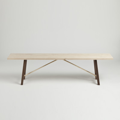 Bench Two Ash & Walnut, 160 cm