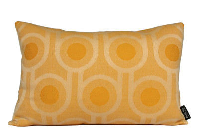 Benedict Rectangle Cushion Yellow, Large Repeat Pettern, Rectangular