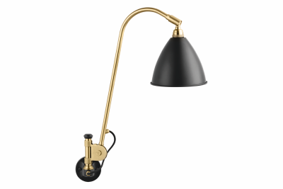 Bestlite BL6 Hard-wired Wall Light Charcoal Black and Brass