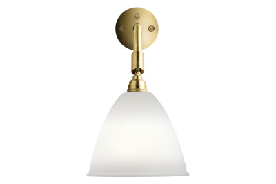 Bestlite BL7 Wired Wall Light Bone China and Brass