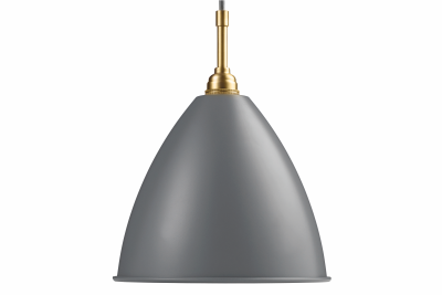 Bestlite BL9 Pendant Light Grey and Brass, Medium