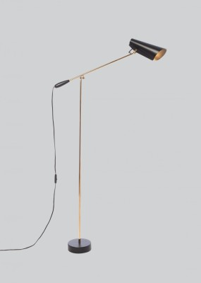 Birdy Floor Lamp Black/Brass, Type G Plug