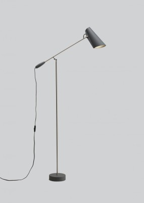 Birdy Floor Lamp Grey/Metallic, Type G Plug