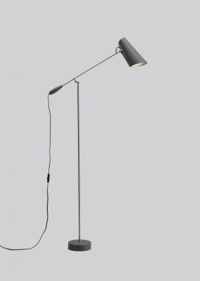 Birdy Floor Lamp Grey/Metallic, Type G Plug