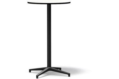 Bistro Stand-up Round table, Outdoor basic dark laminate white, 64.2