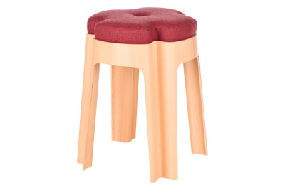 Bloom Upholstered Stool Red