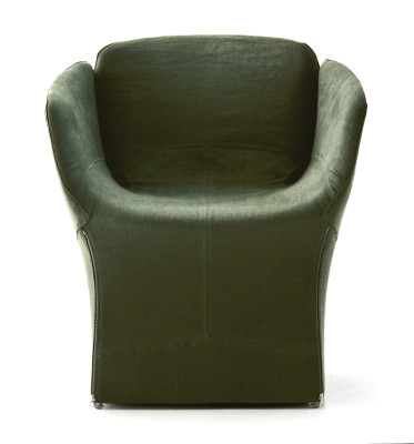 Bloomy Small Armchair B0211 - Leather Oil cirè
