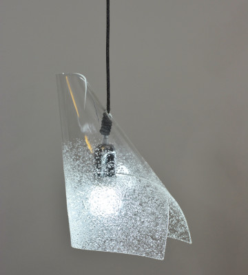 Blue Triangle Pendant Light