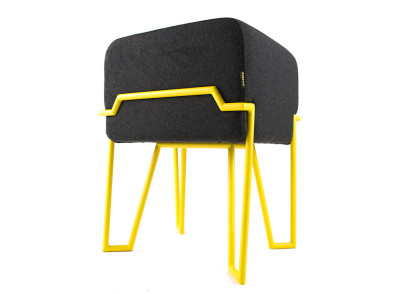 BOKK Stool YELLOW/DARK GREY