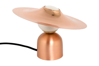 Bonbon/Disc Table Lamp Copper with Black Cable