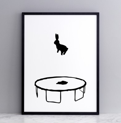 Bouncing Rabbit Screen Print Small
