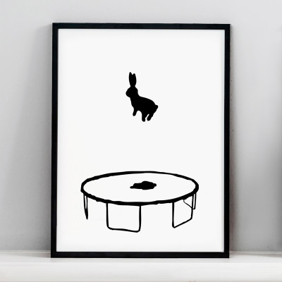 Bouncing Rabbit Screen Print Small