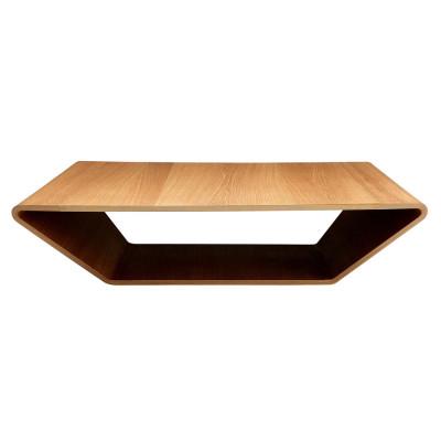 Brasilia table 1000x1000 Oak by Swedese