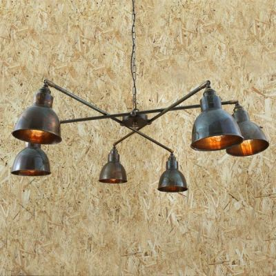 Bridgetown Contemporary Chandelier Antique Silver