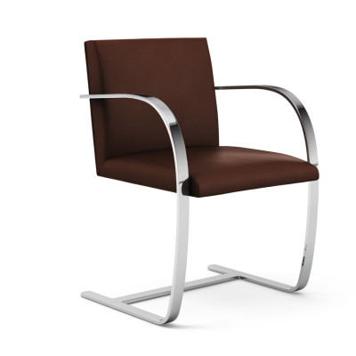 Brno Armchair - Flat Bar With Glides Lucca Black LCBLCK