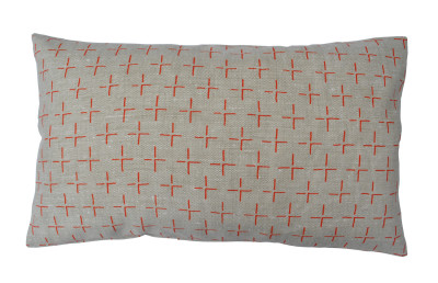 Brockley Cross Long Cushion Orange